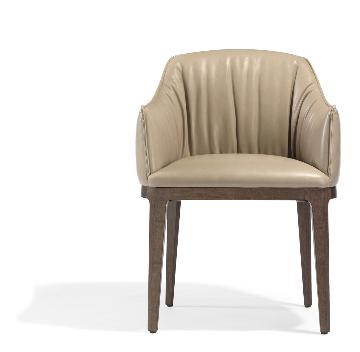 前のブロッサム革張りの椅子