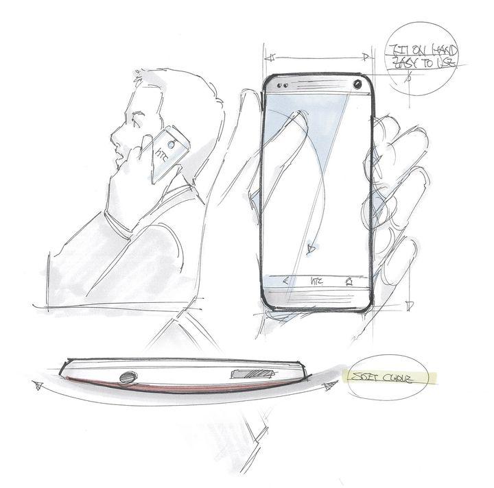 HTC One Esboço 6