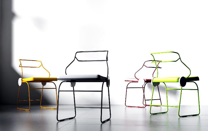 Dongsung Jung Antler cadeira 07