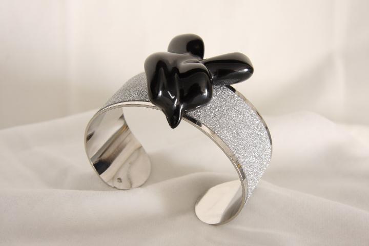 Bracciale n 2 a fascia e marmo  Bracelet band and marble design by Emanuele Rubini