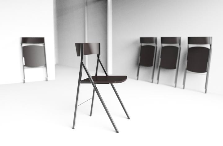 Klapp la sedia pieghevole di area declic in anteprima al - La sedia di design ...