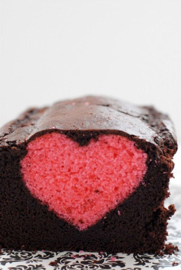 Sweet Valentine une prune avec un cœur à l'intérieur 07