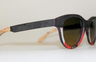 Catuma Sonnenbrille Leinen Holz und Stein 2