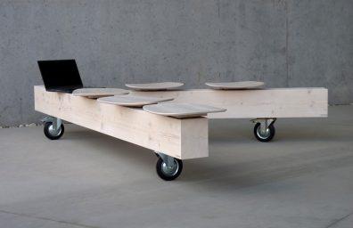 Bedont πάγκο σε μασίφ ξύλο ξυλεία, το σχεδιασμό Ντιέγκο Chilo