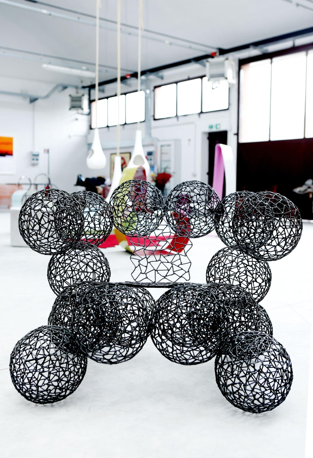 TID space, armchair What balls, Anacleto Spazzapan