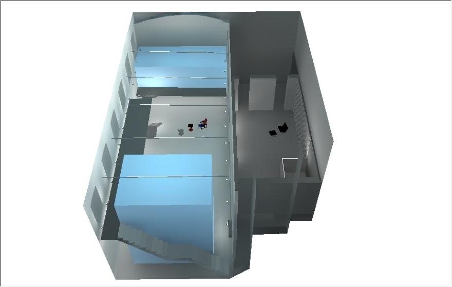 Rada Markovic, diseño de iluminación para Massimo Vitali casa 15A DIALux 3D procesamiento con vista de perfil