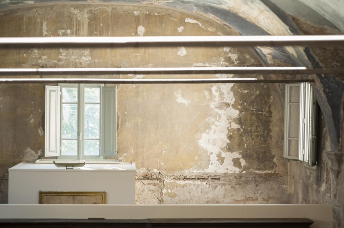 Rada Markovic, diseño de iluminación para Massimo Vitali casa 9 2 ph detalle TECHO azul. Marco Campanini
