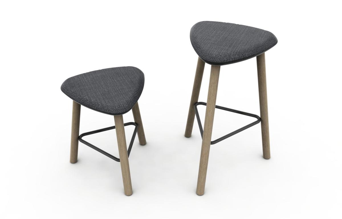 Pick Domitalia stool, padded seat