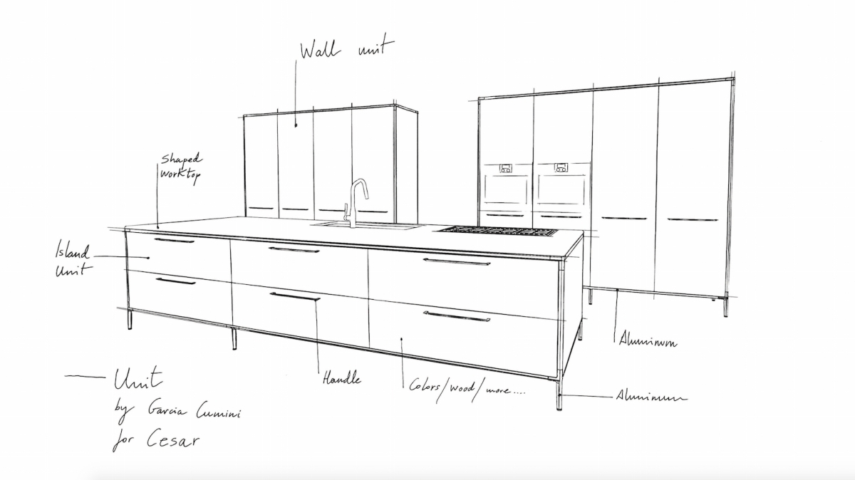 Cesar Unidade de Cozinha, Garcia cumini design - pré-visualização Fuorisalone 2016