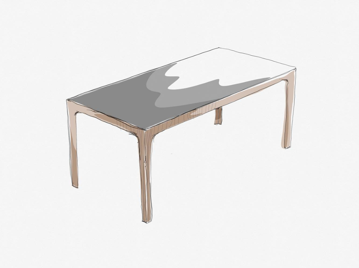 Table Amalong, Giulio Iacchetti pour Bross