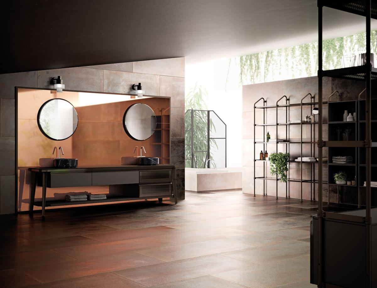 Diesel mit Scavolini, Open-Workshop Badezimmer Umgebung