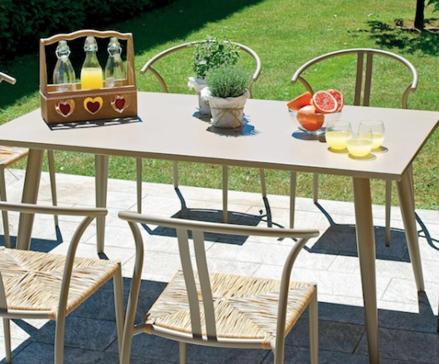 dining set, tavolo Trapani e sedia Erice