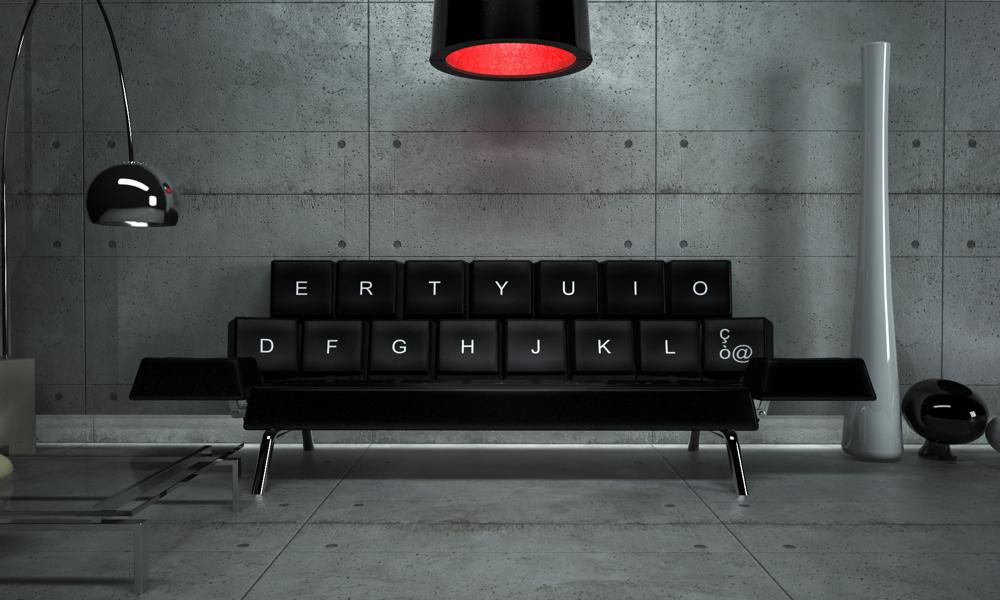 Qwerty Sofa, Concepticon design studio Andrea Cingoli