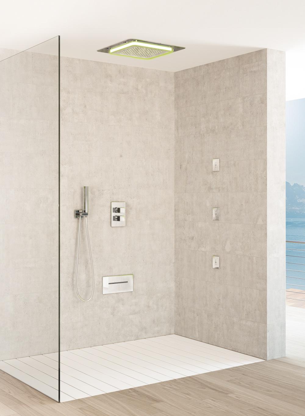 Multifunktionsdusche Dusche Playone Deckeneinbau leitet seitlichen Körper Jet-Dusche