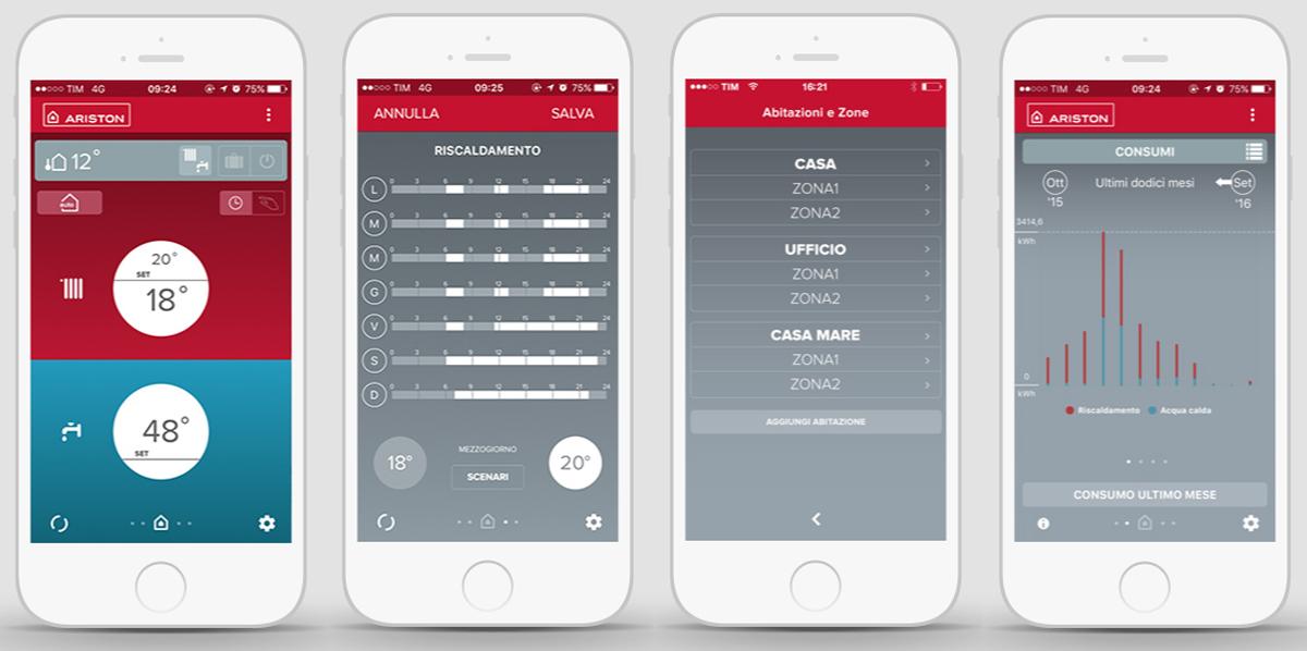 app-to-the-télécommande-de-chauffage-et-la-Chaudière-a-condensation