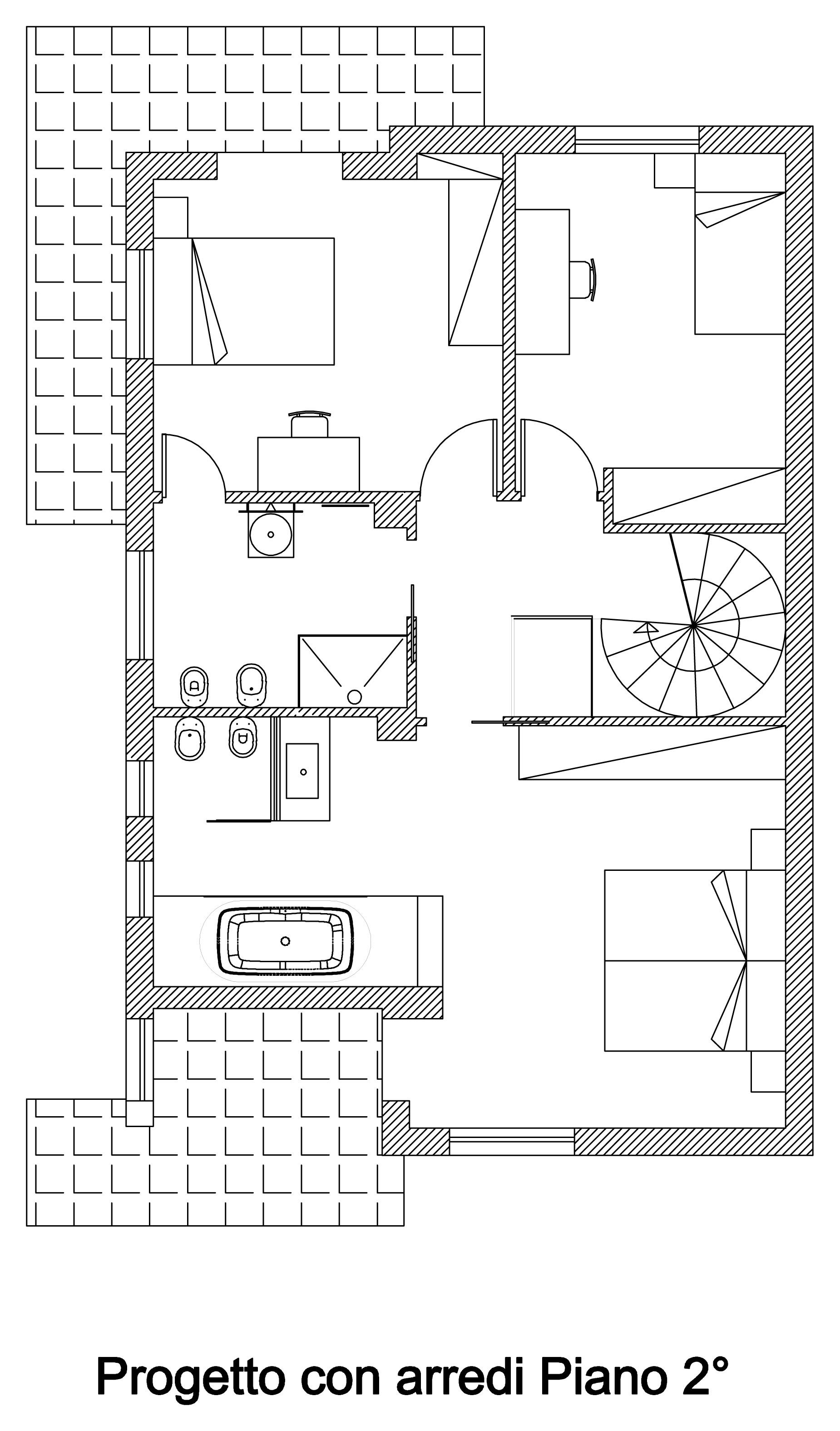 Bogen-arnone-Interieur-Design-of-unabitazione-of-2-Ebenen-Boden-Sekunden