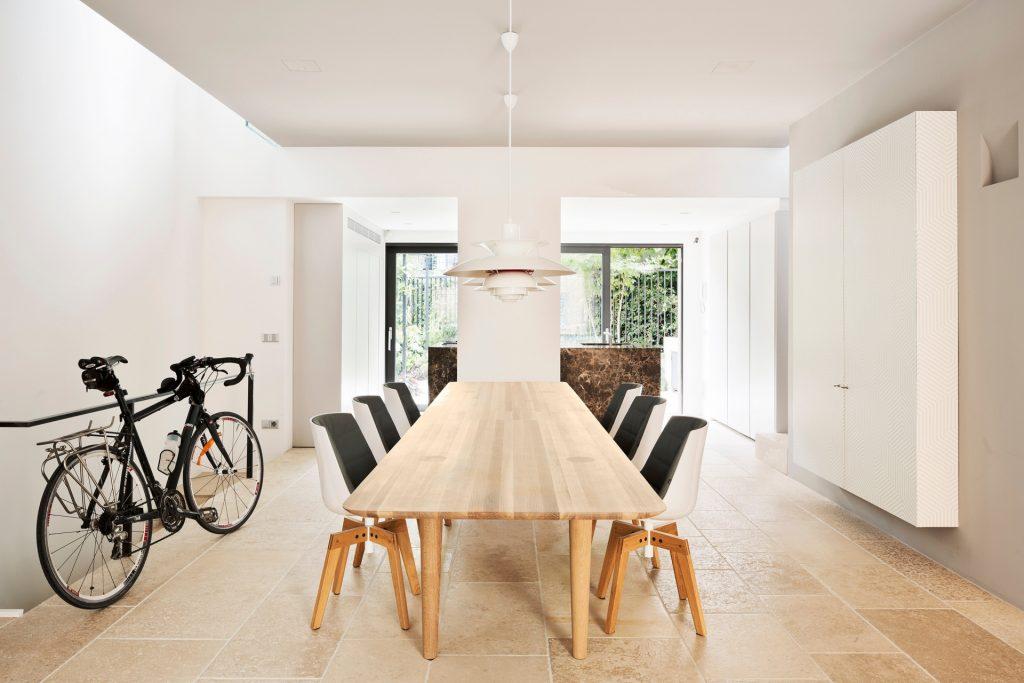 Westway Achitects vertikale Dachboden, Ess-Küchenbereich Blick