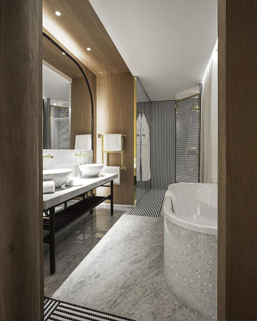 Hotel Vernet Badezimmer
