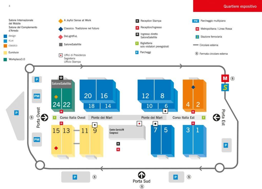 Salone del Mobile 2017 plan