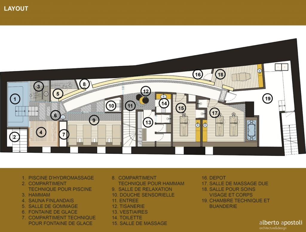 A SPA with a medieval - Alberto Apostoli - floor plan