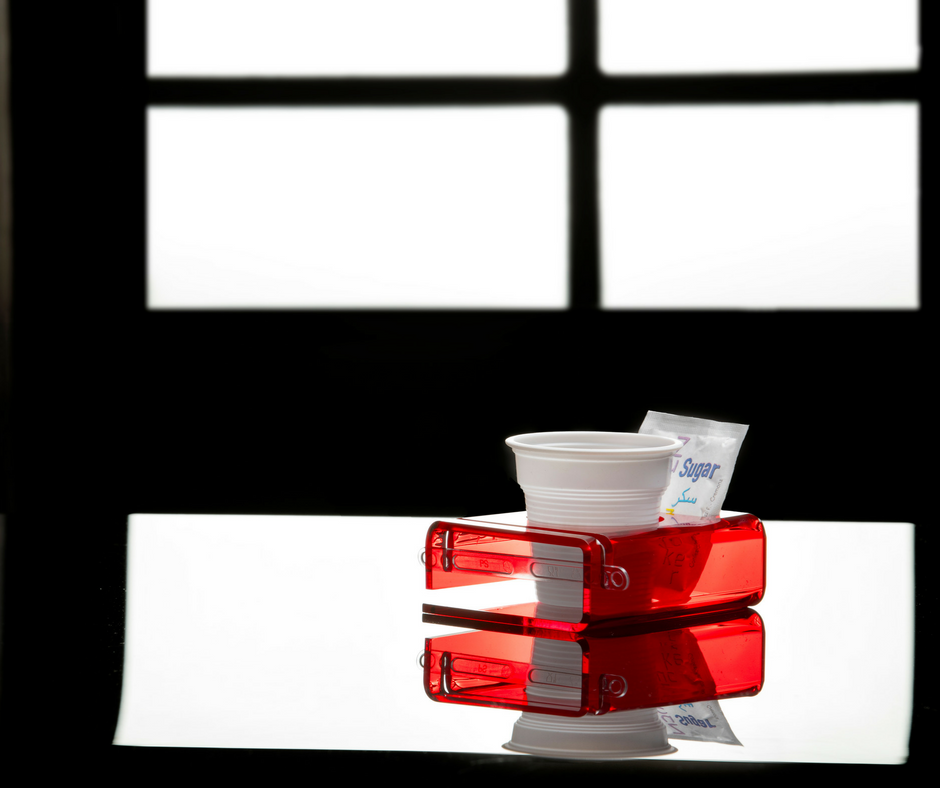 Red Plexi cup holder