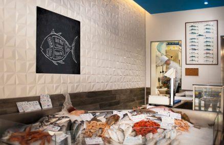 ψάρια ψάρια εστιατόριο και σταφύλια Davide coluzzi