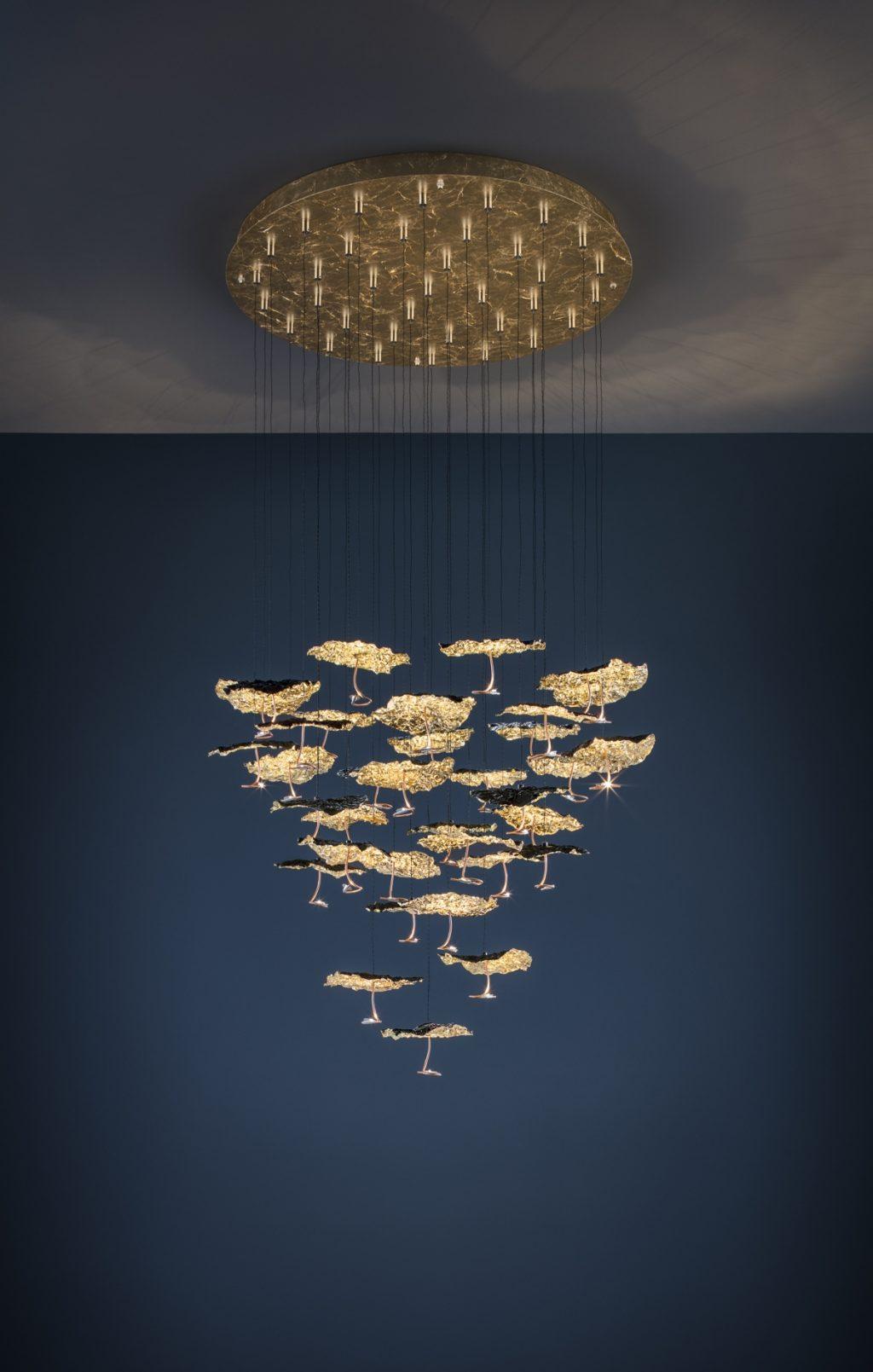 Gold Moon Chandelier