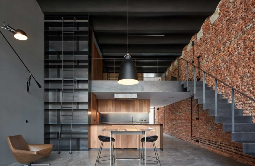 Old brewery converted into an industrial-style loft by CMC Architects