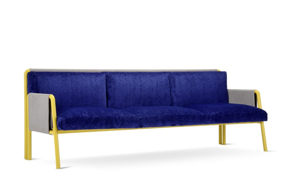 Three-seater Swing sofa design Debonademeo for Adrenalina